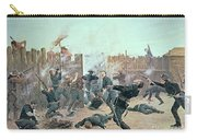 Defending The Fort Carry-all Pouch by Charles Schreyvogel