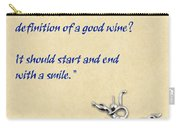Definition Of Wine Carry-all Pouch by Elaine Plesser
