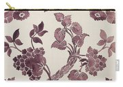 Design For A Silk Damask Carry-all Pouch
