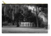 Destrehan Plantation In Black And White Carry-all Pouch
