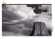 Devils Tower Wyoming Bw Carry-all Pouch