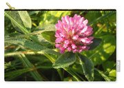 Dew Covered Clover Blossom Carry-all Pouch