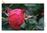 Dew Drenched Rose Carry-all Pouch