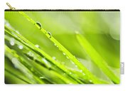 Dewy Green Grass  Carry-all Pouch by Elena Elisseeva