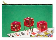 Dice Red Cards Hook 1 B Carry-all Pouch