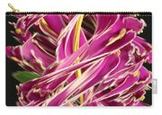 Digital Streak Image Of African Violets Carry-all Pouch
