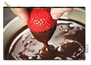 Dipping Strawberry In Chocolate Carry-all Pouch by Elena Elisseeva