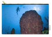 Diver And Barrel Sponge, Belize Carry-all Pouch