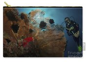 Diver And Sea Fan At Liberty Wreck Carry-all Pouch