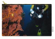 Diver And Sea Fans, Fiji Carry-all Pouch