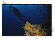 Diver And Soft Coral, Fiji Carry-all Pouch
