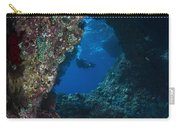 Diver At Boo Windows In Raja Ampat Carry-all Pouch