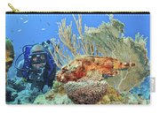 Diver Looks At Scorpionfish Carry-all Pouch