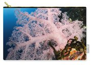 Diver Over Soft Coral Seascape Carry-all Pouch