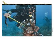 Diver Spears An Invasive Indo-pacific Carry-all Pouch