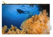 Diver Swimms Above Soft Coral, Fiji Carry-all Pouch
