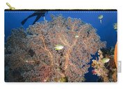 Diver Swims Over Sea Fans, Indonesia Carry-all Pouch