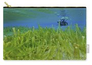 Diver With Fluorescent Green Algae Carry-all Pouch