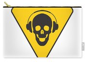 Dj Skull On Hazard Triangle Carry-all Pouch by Pixel Chimp