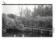 Dock On The River In Black And White Carry-all Pouch