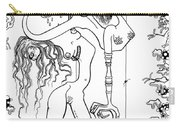 Doctor Vultura's Proportional Sky-fish Daughters  Carry-all Pouch by Kelly Jade King