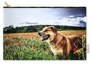 Dog In The Poppy Field Carry-all Pouch