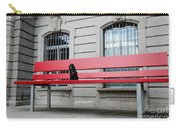 Dog On A Big Red Bench Carry-all Pouch
