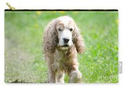 Dog On The Green Field Carry-all Pouch