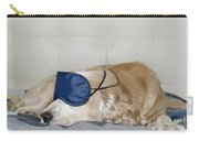 Dog Sleeping With A Sleep Mask Carry-all Pouch