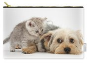 Dog Surrendering To Kitten Carry-all Pouch