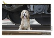 Dog Under A Train Wagon Carry-all Pouch