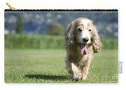 Dog Walking On The Green Grass Carry-all Pouch