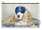 Dog With A Sleep Mask Carry-all Pouch