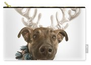 Dog With Antlers Carry-all Pouch