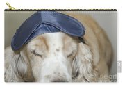 Dog With Sleep Mask Carry-all Pouch