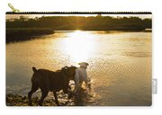 Dogs At Sunset Carry-all Pouch by Stephanie McDowell