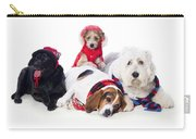 Dogs Wearing Winter Accessories Carry-all Pouch