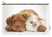 Dogue De Bordeaux Puppy With Bunny Carry-all Pouch
