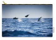 Dolphins Playing In The Ocean Carry-all Pouch