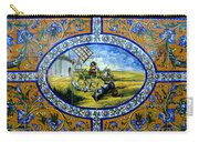Don Quixote In Spanish Tile Carry-all Pouch
