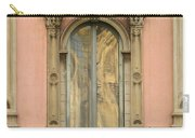 Doors Balcony And Duomo Reflection In Milan Italy Carry-all Pouch