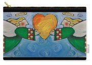 Double Angels With Heart Carry-all Pouch