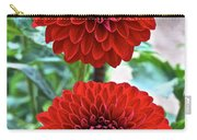 Double Decked Dahlia Carry-all Pouch