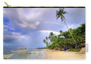 Double Rainbow At The Beach Carry-all Pouch by Yhun Suarez