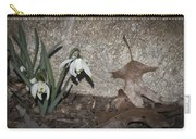 Double Snowdrops Carry-all Pouch