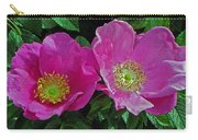 Double Wild Rose Carry-all Pouch