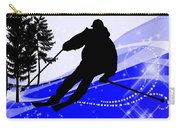Downhill On The Ski Slope  Carry-all Pouch