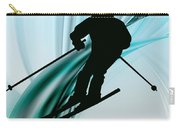 Downhill Skiing On Icy Ribbons Carry-all Pouch