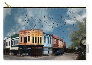 Downtown Bryan Texas 360 Panorama Carry-all Pouch by Nikki Marie Smith