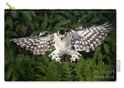 Downy Woodpecker In Flight Carry-all Pouch